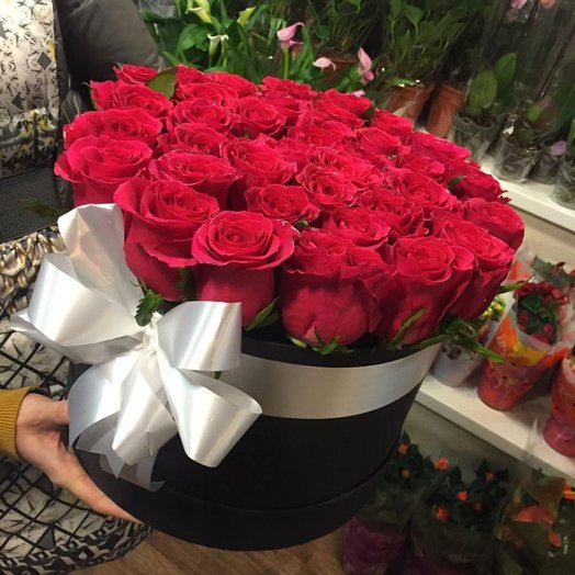 Коробка шляпная Примула: букеты цветов на заказ Flowwow