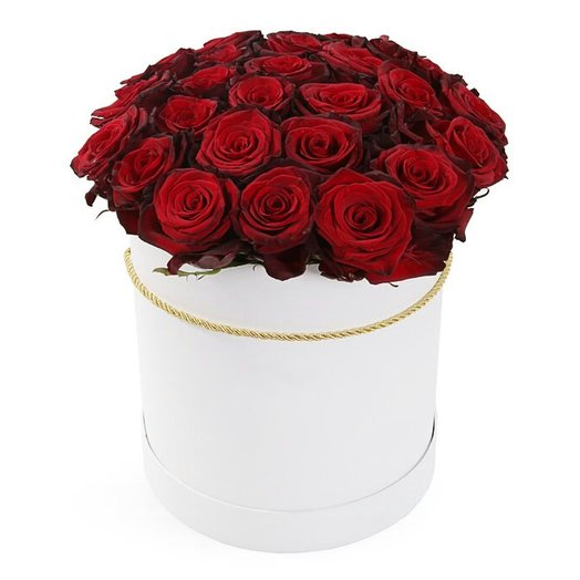 Совершенство: 51 роза в шляпной коробке: букеты цветов на заказ Flowwow