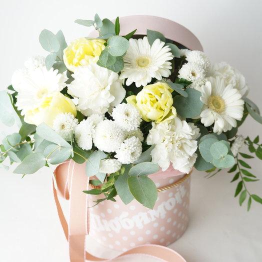 """Аквабокс """" Любимой"""" или """"Мамочке"""" 2 вида надписей: букеты цветов на заказ Flowwow"""