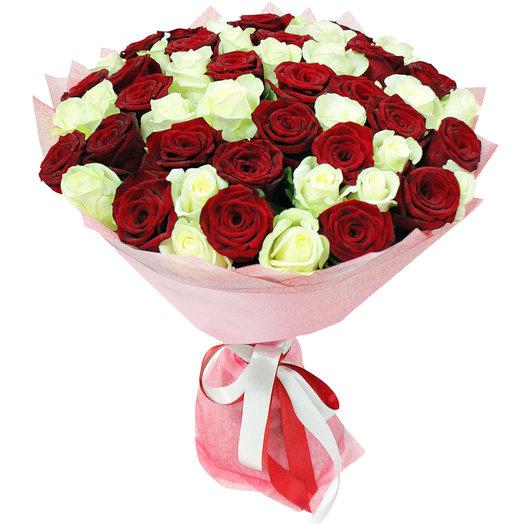 Букет Виттория 51 шт - 50 см: букеты цветов на заказ Flowwow