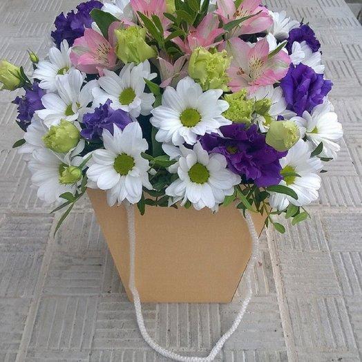Коробка Летний микс: букеты цветов на заказ Flowwow