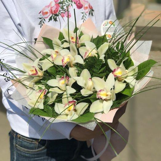 Орхидея,  Монобукеты. N230: букеты цветов на заказ Flowwow