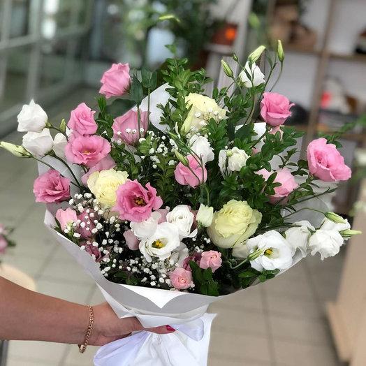 """""""Цветочный рай"""" с эустомами: букеты цветов на заказ Flowwow"""