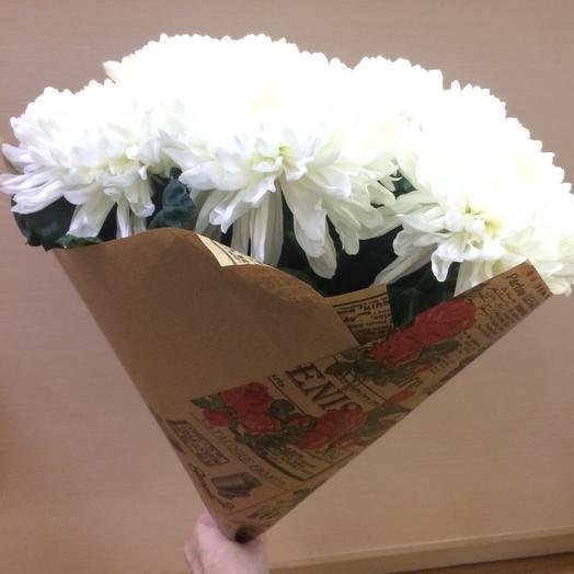 5 больших хризантем: букеты цветов на заказ Flowwow