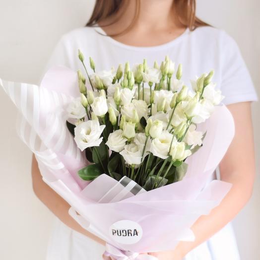 Белоснежные эустомы: букеты цветов на заказ Flowwow