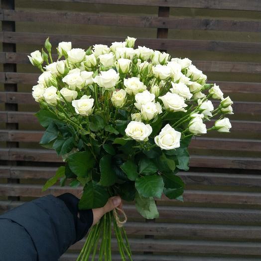 Роза кустовая 60 см: букеты цветов на заказ Flowwow