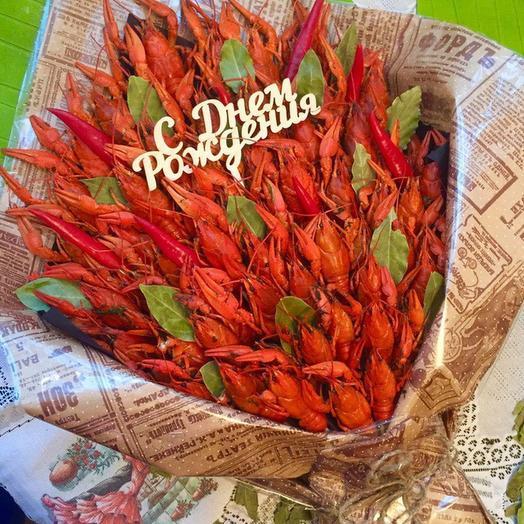 Съедобный букет с раками 31 шт: букеты цветов на заказ Flowwow