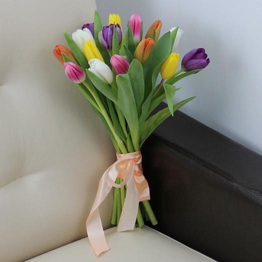 15 тюльпанов микс: букеты цветов на заказ Flowwow