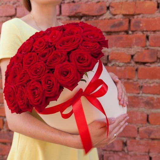 Коробка из 51 красной розы