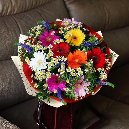 """Букет из герберы и ромашки """"Эстет Флора"""": букеты цветов на заказ Flowwow"""