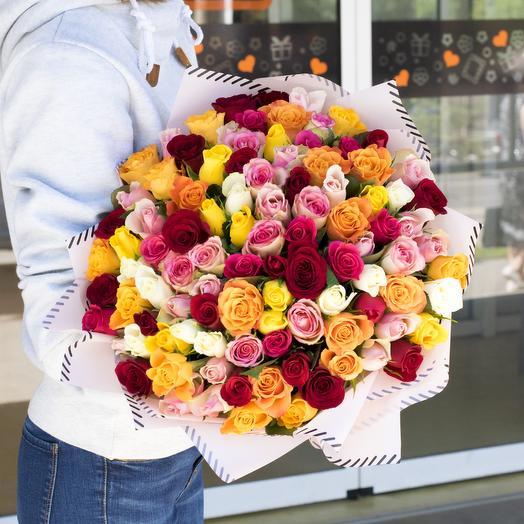 Букет 155 роз кения