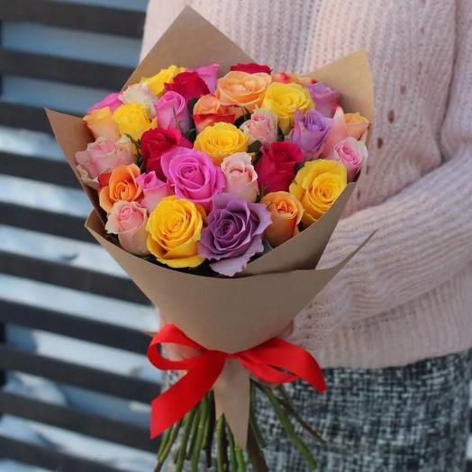 """Букет """"радужные розы"""""""