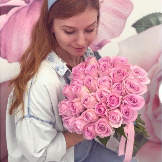 Нежный монобукет из роз: букеты цветов на заказ Flowwow