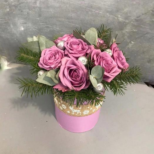 Новогодняя коробочка 1: букеты цветов на заказ Flowwow