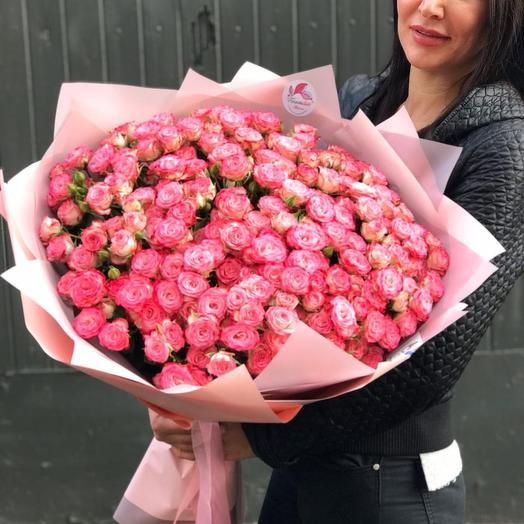 Кустовые розы: букеты цветов на заказ Flowwow