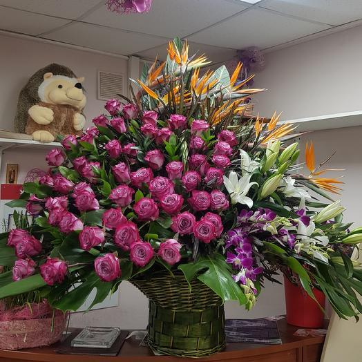 Корзина космос: букеты цветов на заказ Flowwow