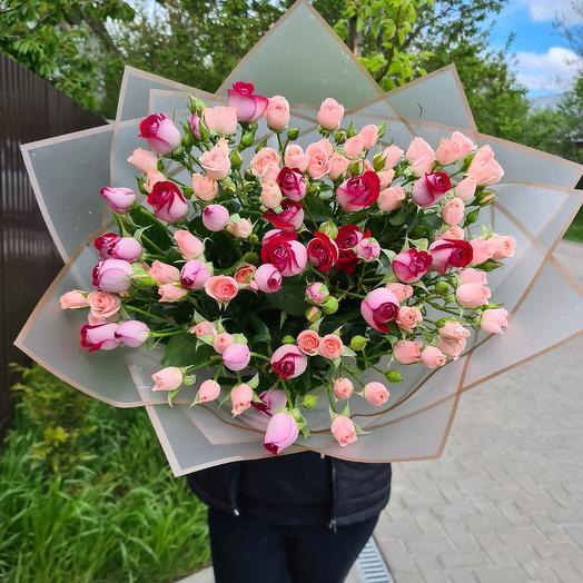 21 кустовая роза: букеты цветов на заказ Flowwow