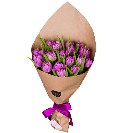Пионовидные тюльпаны в крафте