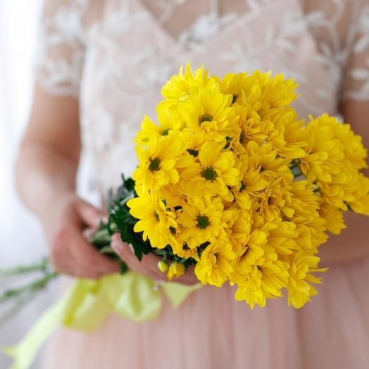 ✅ Яркий букетик из Хризантемы