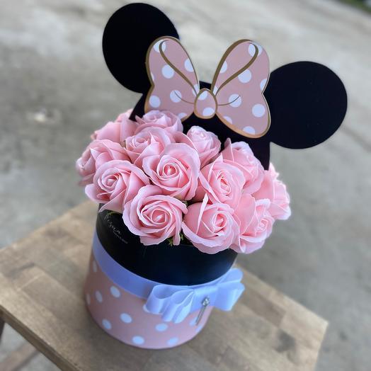 Мыльные розы в стильной коробочке