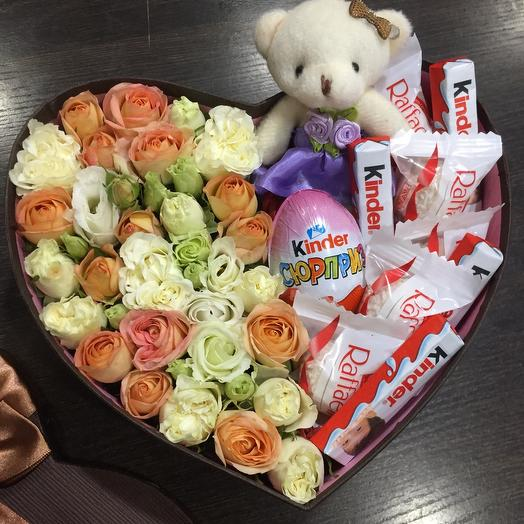 Цветы в коробке 005447