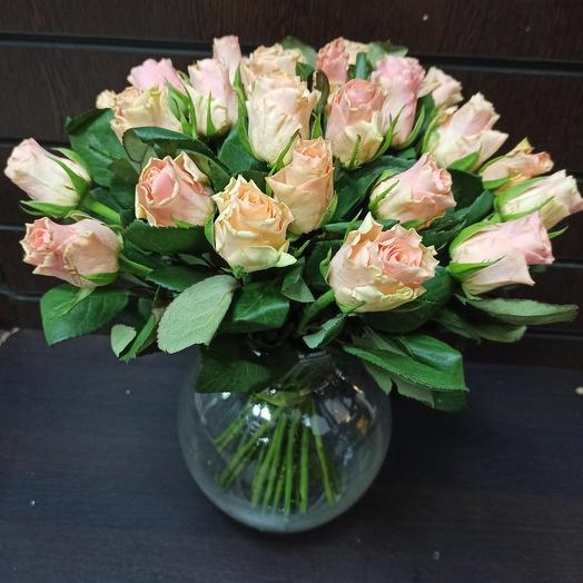 Роза кенийская персиковая(40 см)