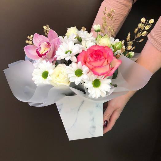 Коробка трапеция с микс цветами