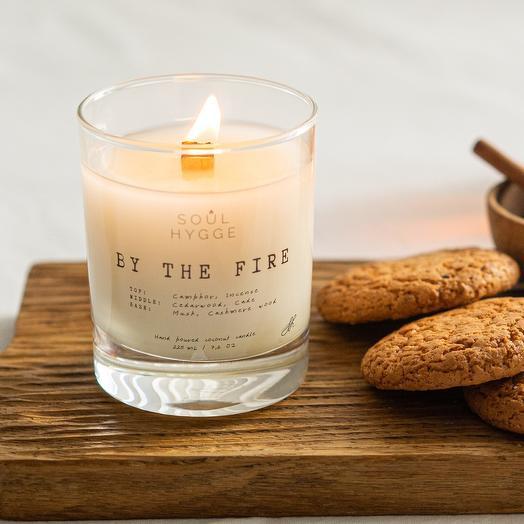 Свеча BY THE FIRE 225мл с деревянным фитилём
