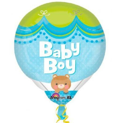 Фигура Медвежонок на воздушном шаре выписка мальчик