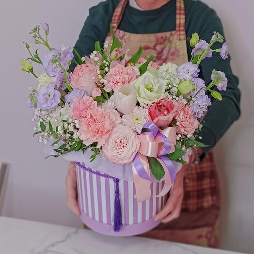 Цветы в коробке Прованс