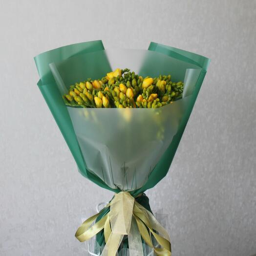 Фрезия Фрезии Букет из желтых фрезий Букет с фрезией