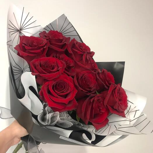 Моно букет из роз