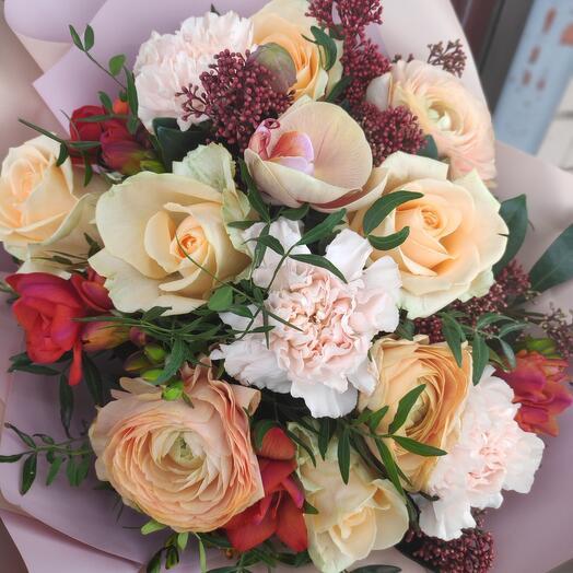 Букет цветов Карамельный