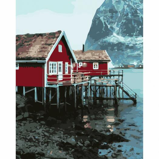 Картина по номерам Домик на берегу