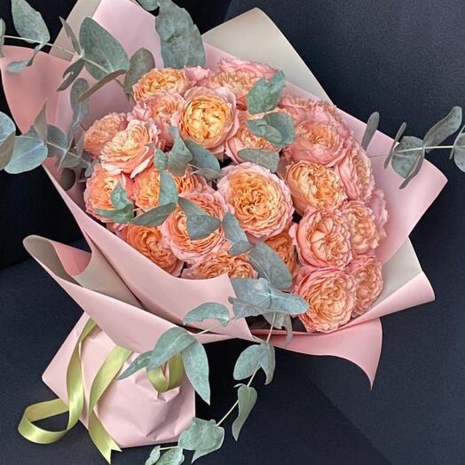 Букет Роза пионовидная