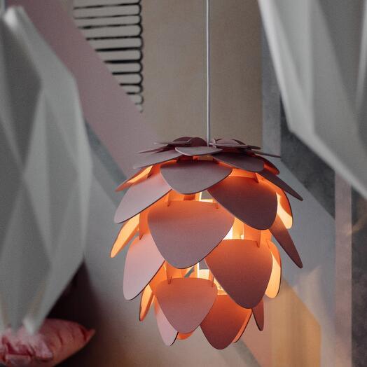 Светильник Shishka подвесной пудровый