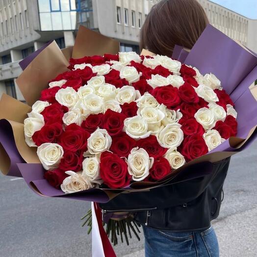 Розы Эквадор Премиум Микс