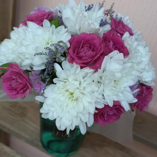Цветы в стаканчике Малахит