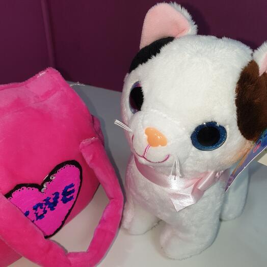 Кошка в розовой сумке 🐱💜