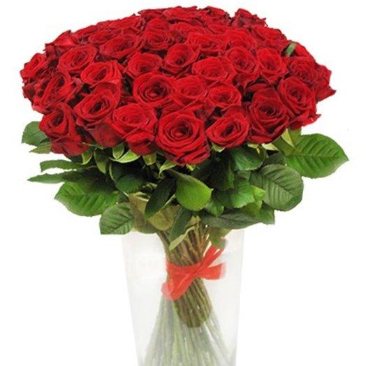 Букет Знак внимания в вазе: букеты цветов на заказ Flowwow