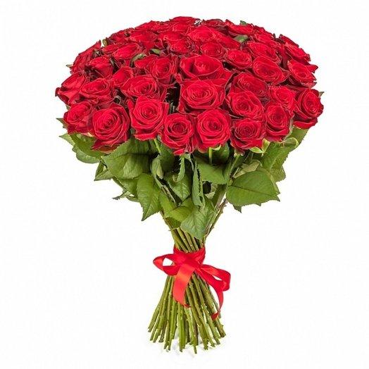 51 роза! От сердца к сердцу!: букеты цветов на заказ Flowwow