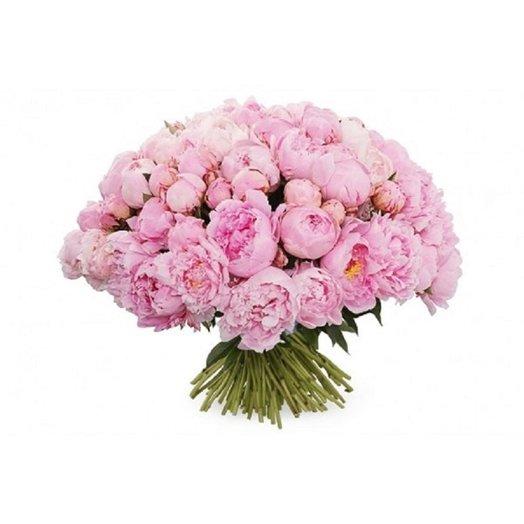 Букет из 29 розового кустовидного пиона: букеты цветов на заказ Flowwow