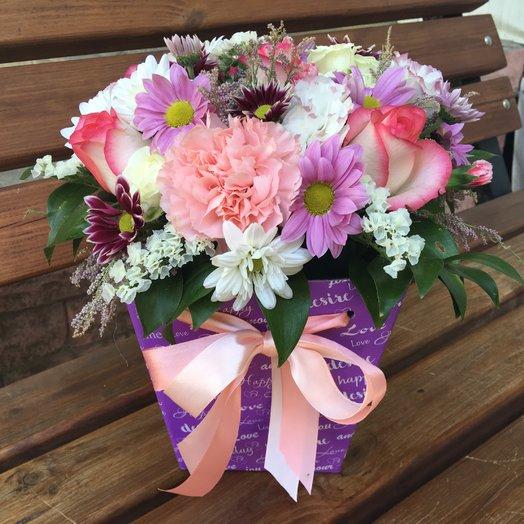 Трапеция «Дивный момент»: букеты цветов на заказ Flowwow