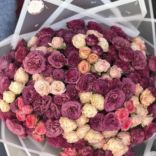 51 шикарная роза: букеты цветов на заказ Flowwow