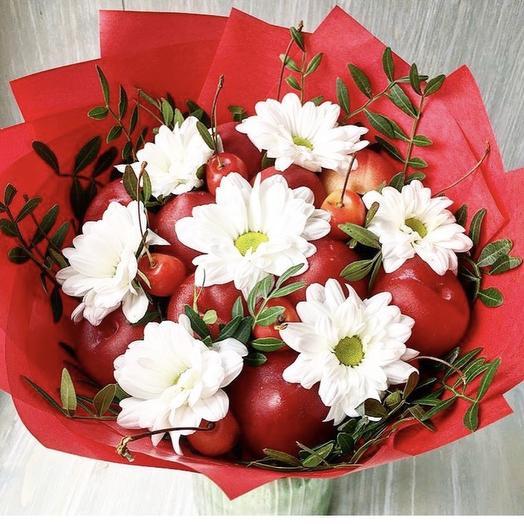 Фруктовый букет «Мальвина»: букеты цветов на заказ Flowwow