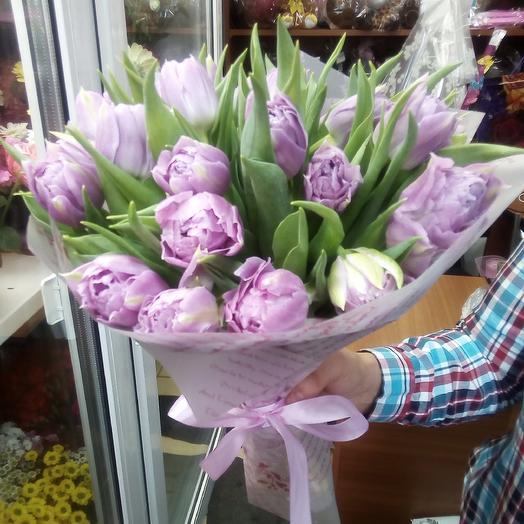 Тюльпановое счастье: букеты цветов на заказ Flowwow