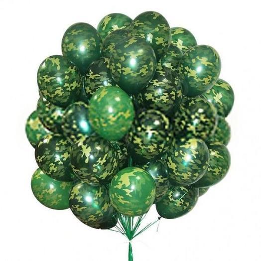 Камуфляжные воздушные шарики: букеты цветов на заказ Flowwow