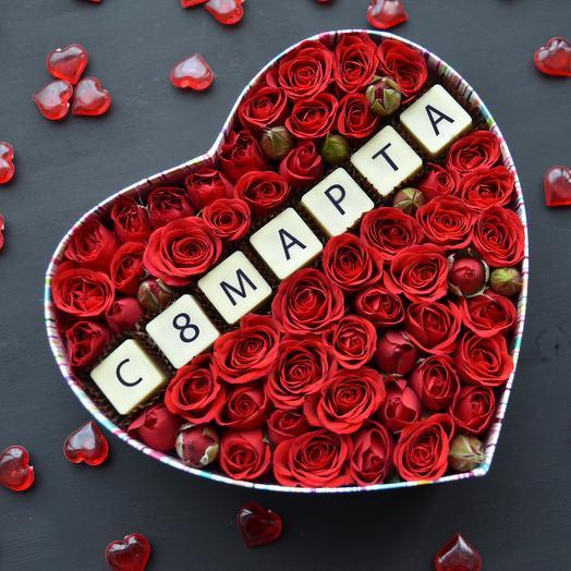 Бельгийский шоколад и розы: 8 марта RED