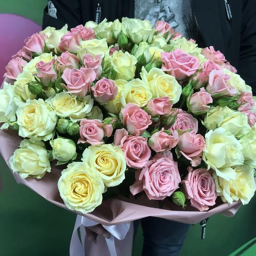 Кустовые розочки XXL: букеты цветов на заказ Flowwow