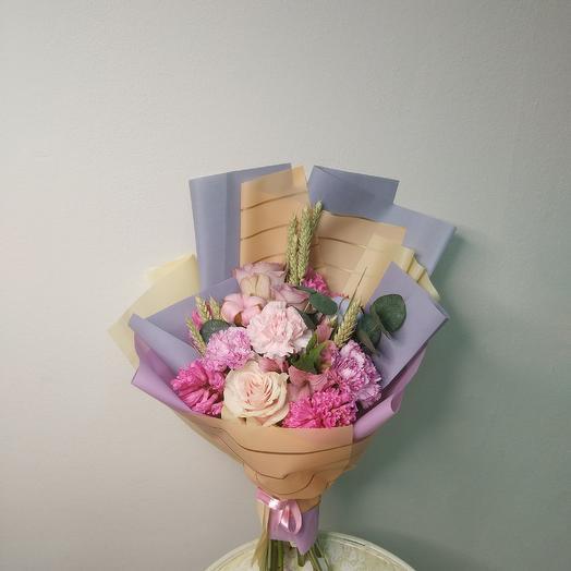 «Барышня-кокетка»: букеты цветов на заказ Flowwow